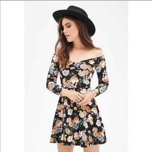 Floral Skater Dress 90's Style